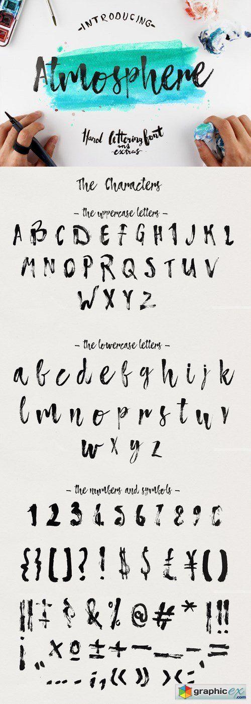 Atmosphere Script Typface