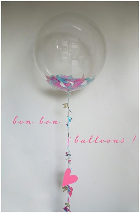 Clear Confetti Balloons Idea Use 2 Clear Round