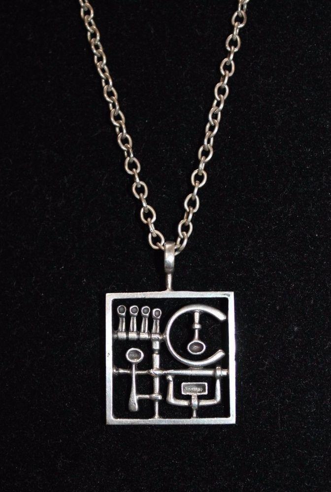 Vintage JORMA LAINE Finland Kultateollisuus Ky Modernist Pendant H830 Necklace | eBay