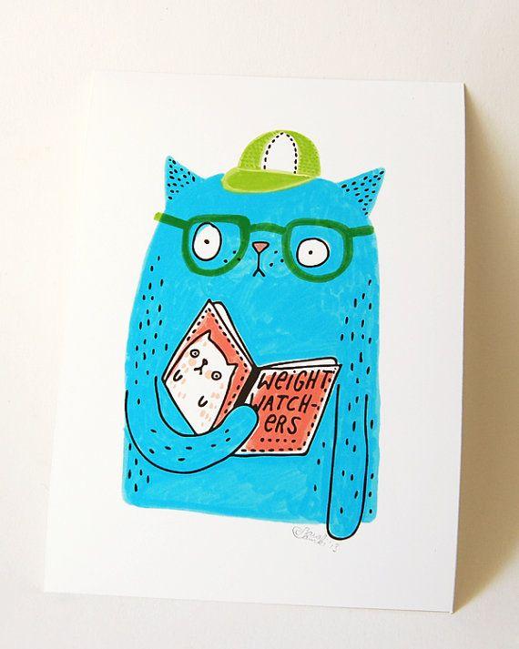 Damki città CAT  stampa della mia illustrazione di danadamki, €9.00