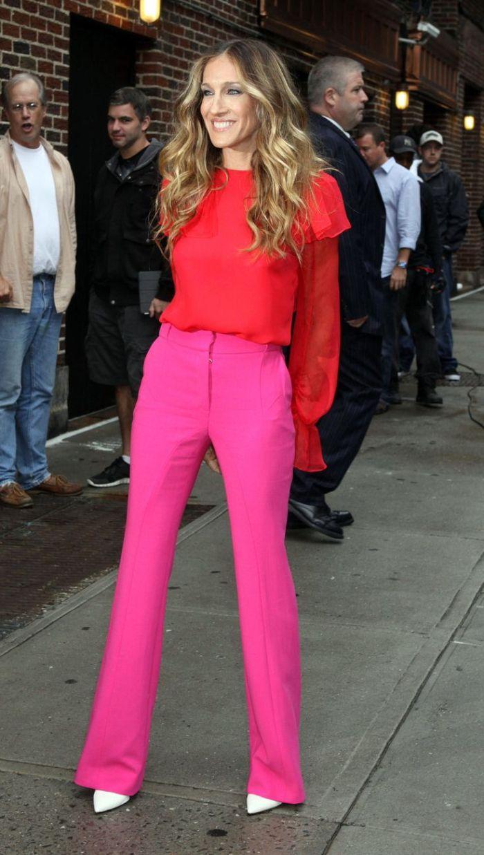 calça rosa roupas