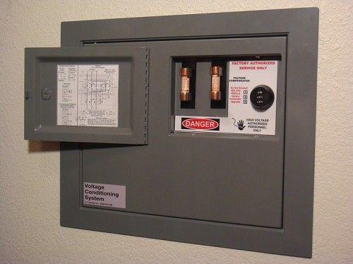 Secret safe.  Looks like a breaker box.