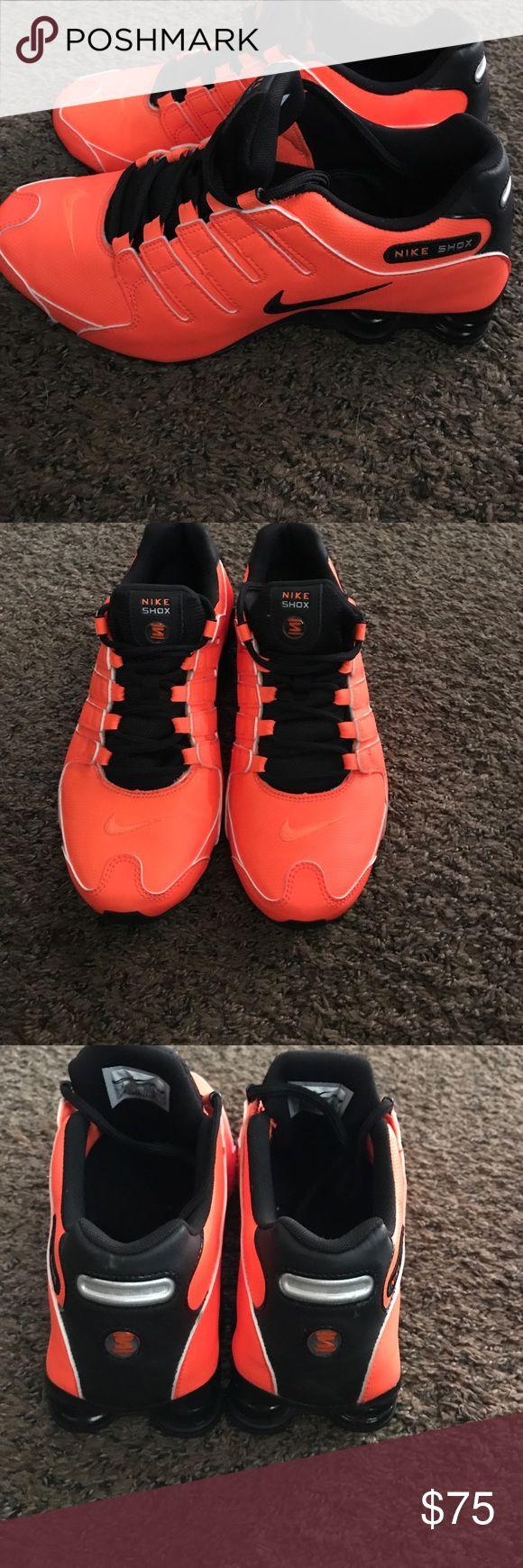 Nike shox Vibrant orange and black Nike Shox without box new never worn .... beautiful shoe nike shox  Shoes Sneakers