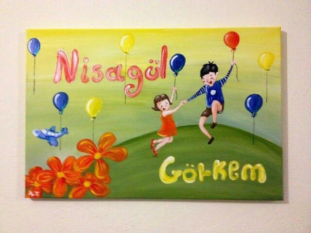 Nisajul & Gorkem - acrilyc on canvas