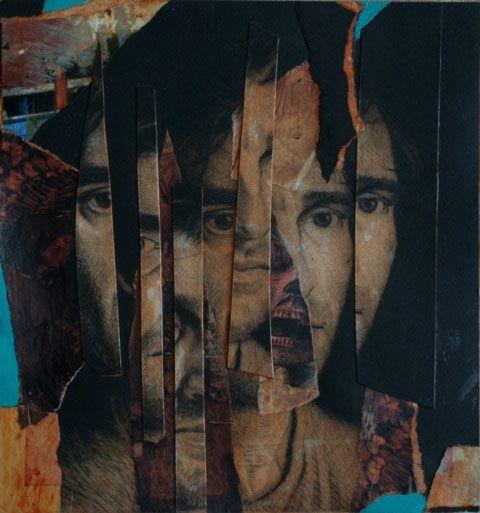 Tomas Watson- Self-Portrait- Monoprint and Collage 2009