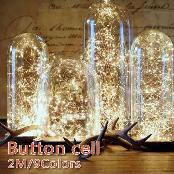 2M Xmas Lights LED Battery Operated Party Wedding Lamp Festive