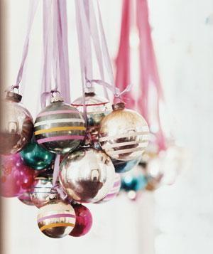 Odd Ball Ornaments as Brilliant Chandelier