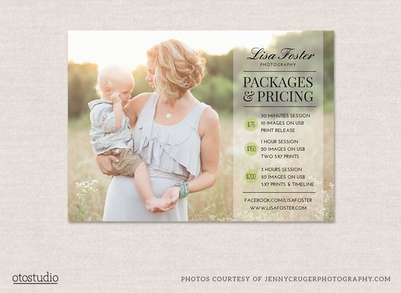 Photography Flyer Pricing Guide by OtoStudio on Creative Market