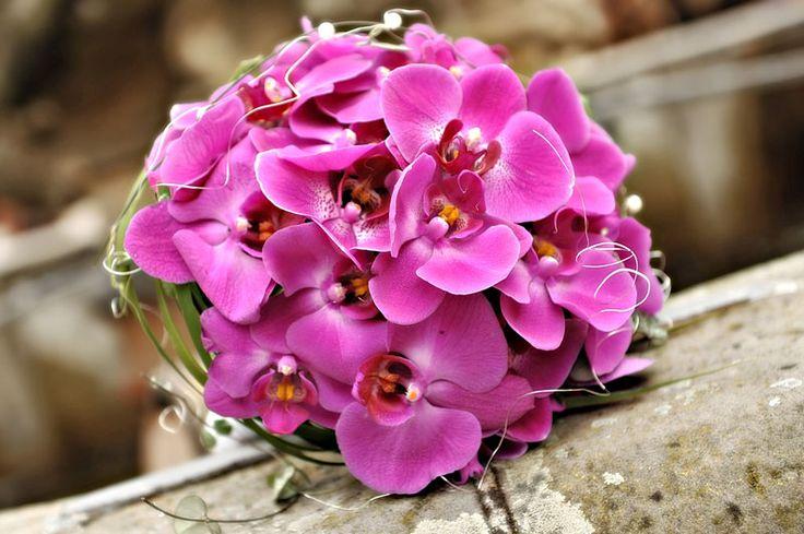 Brautstrauss mit Orchideen in Lila  Weddingideas in magenta & fuchsia ...