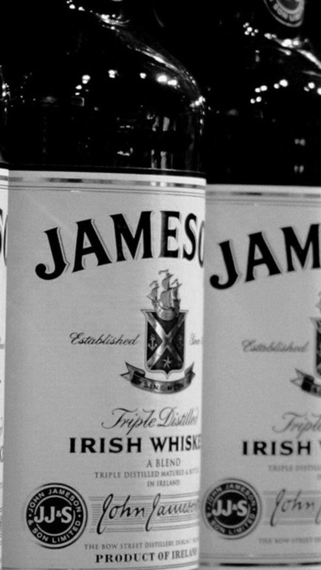 Whiskey Jameson Black White Bottle #iPhone #5s #wallpaper