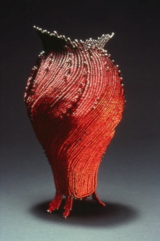 """Marilyn Moore """"Sway"""" made in 2004, twined wire"""