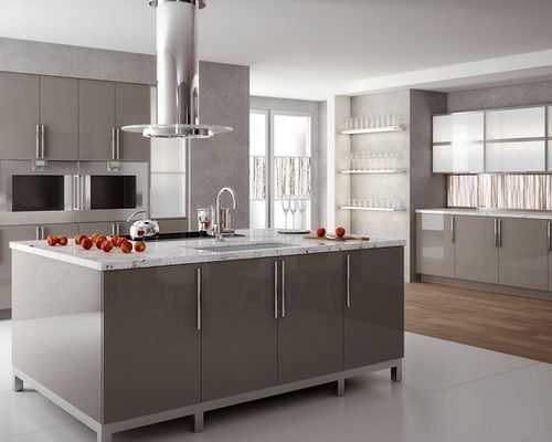 Contemporary Grey Kitchen 23 best nobilia high gloss kitchens images on pinterest | high