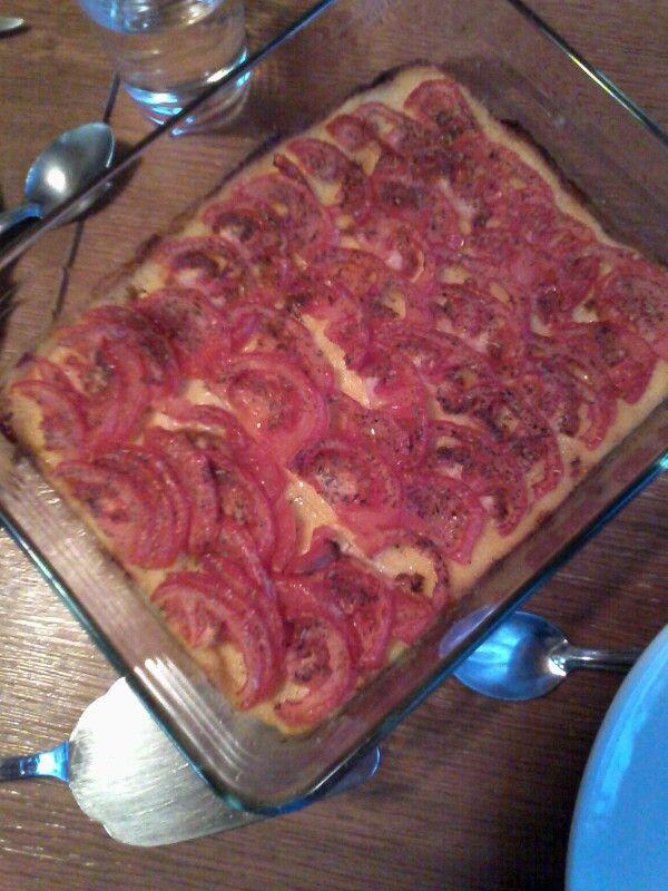 Gratin de polenta et tomates
