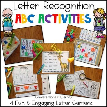 Letter Recognition activities on Cookie Sheets and in Rice Boxes are such a fun and engaging way for students to learn their ABCs!! These activities are great for small group, centers and RtI intervention groups.