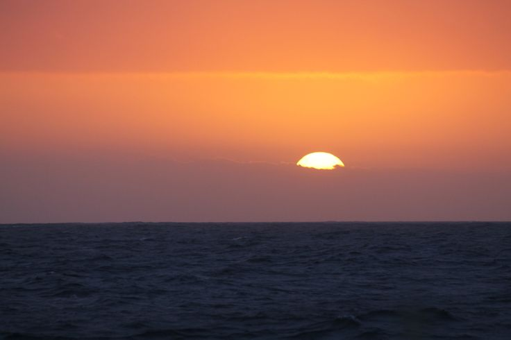 Sunset from sea over Cape Saint Francis