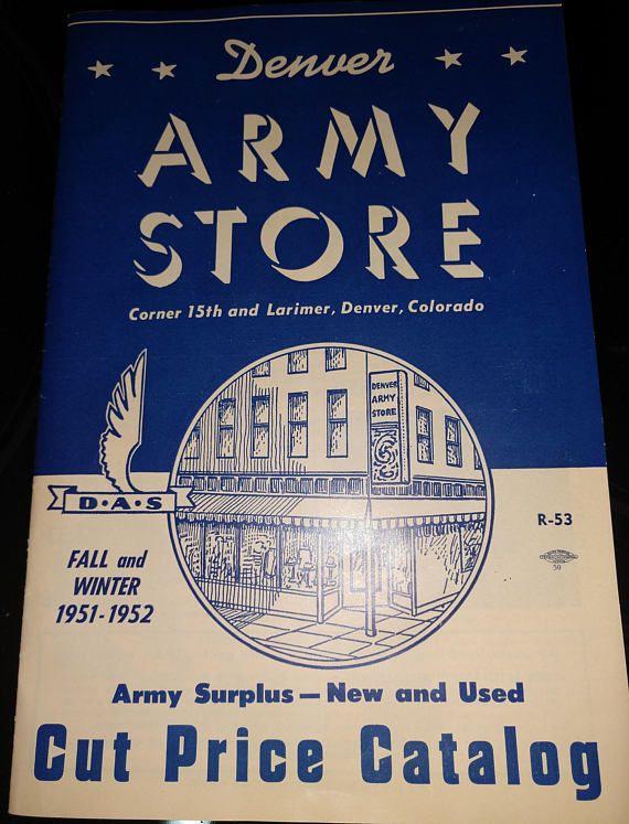 Vintage Denver Army Store catalog 1951-1952 Military Surplus