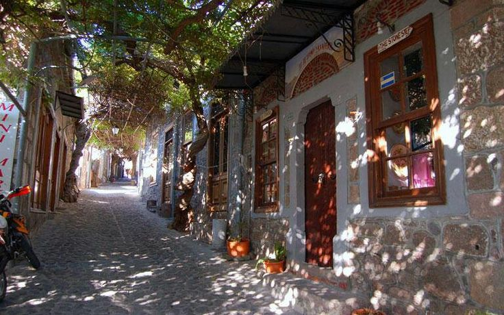 Charming alley in Lesvos