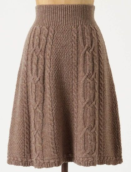 knit skirt - Anthropologie