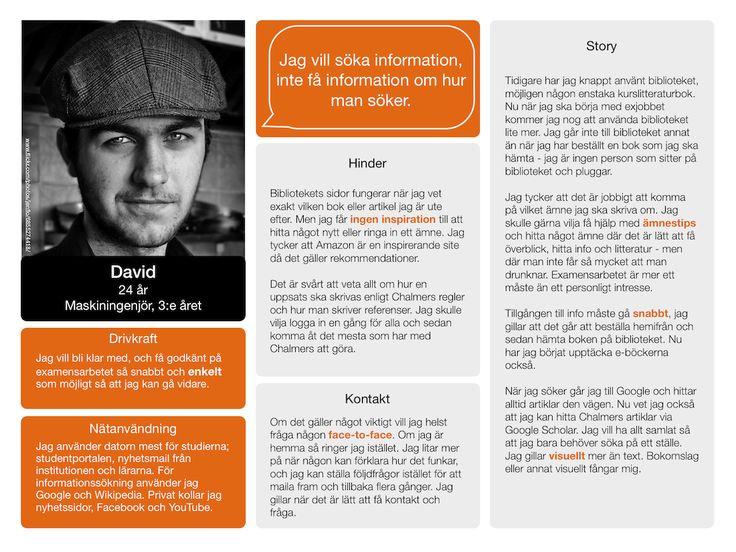David, dator för studier, mail, surfar, studenportal, Google, Wikipedia, Facebook, YouTube