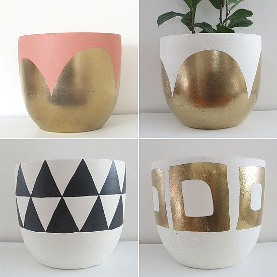 We have a feeling these hand-painted pots can be used for more than plants!