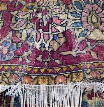 Carpets Restoration   Restoration antique carpets Reconstruction holes