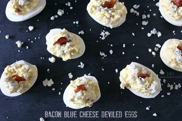 Bacon Blue Cheese Deviled Eggs | Recipe | Deviled Eggs, Blue Cheese ...
