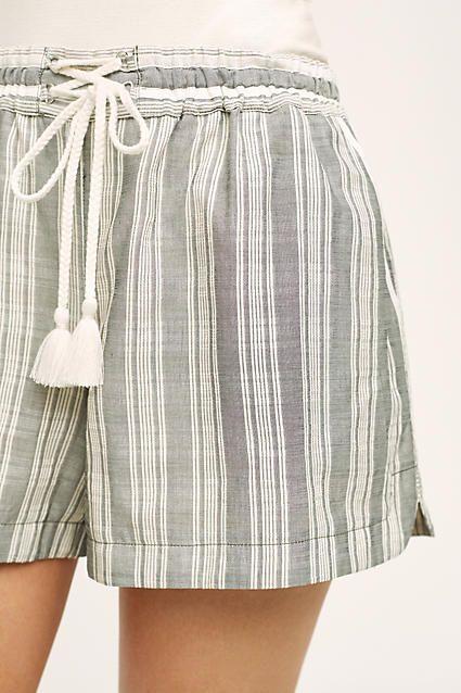 Tasseled Dobby Shorts - anthropologie.com