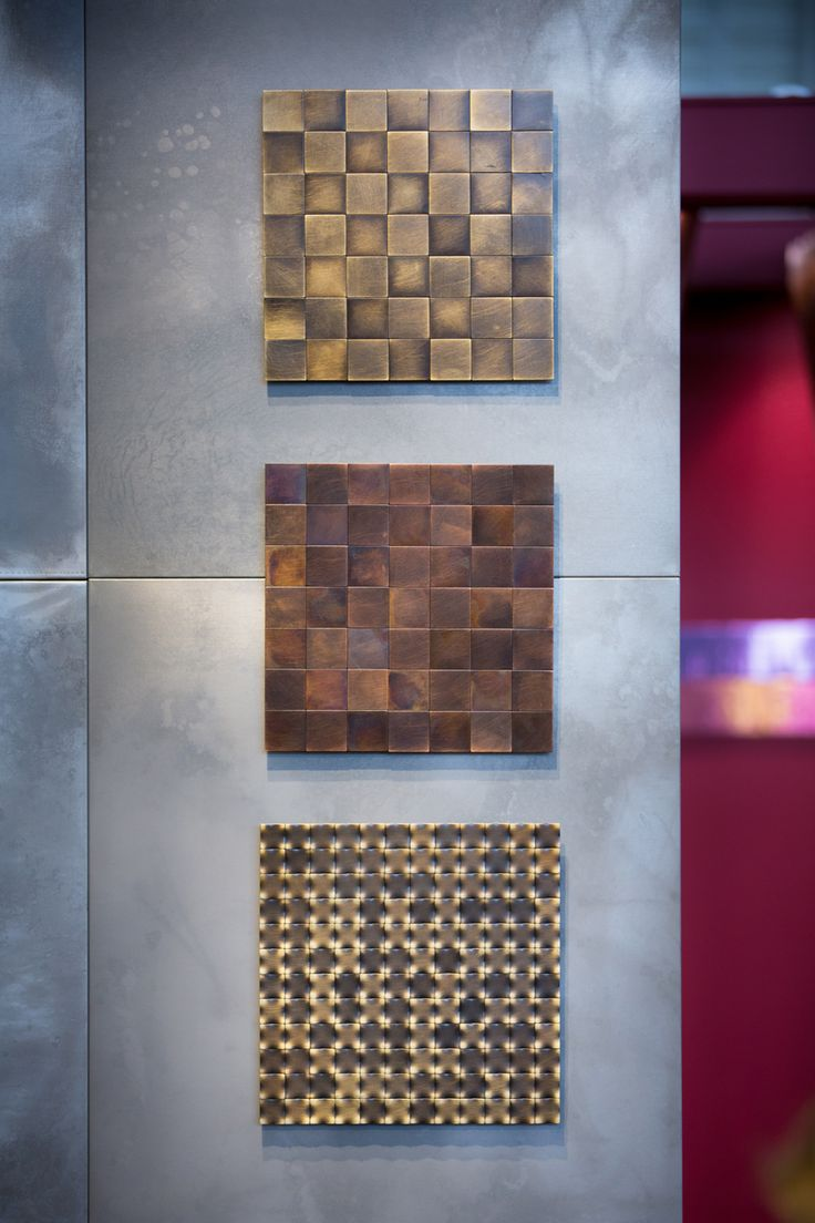 SQUARE #floor #wallcovering #Decastelli at Maison&Objet 2015 #iron #brass #copper ph: Stefano Borghi