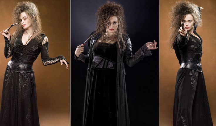 Halloween costumes ideas: best witches dresses from movies - Film – Harry Potter Franchise 2007 - 2011 Character – Bellatrix Lestrange played by Helena Bonham Carter Costume Designer – Jany Temime