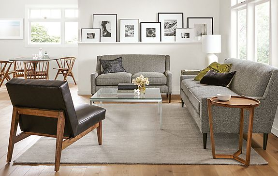 Braden Sofas With Edwin Leather Chair