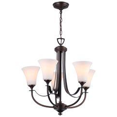 DVP8325ORB-OP Richmond 5lt chandelier Oil Rubbed Bronze