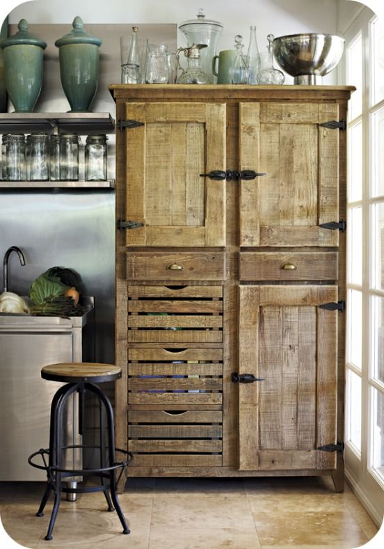 Pallet Cupboard Decoration Decor Inspiration White Shabbychic French  Brocante Vintage Distressed Interior Home Kitchen