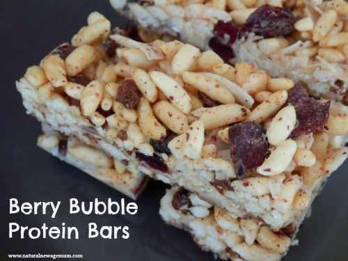 Berry Bubble Protein Bars - Natural New Age Mum
