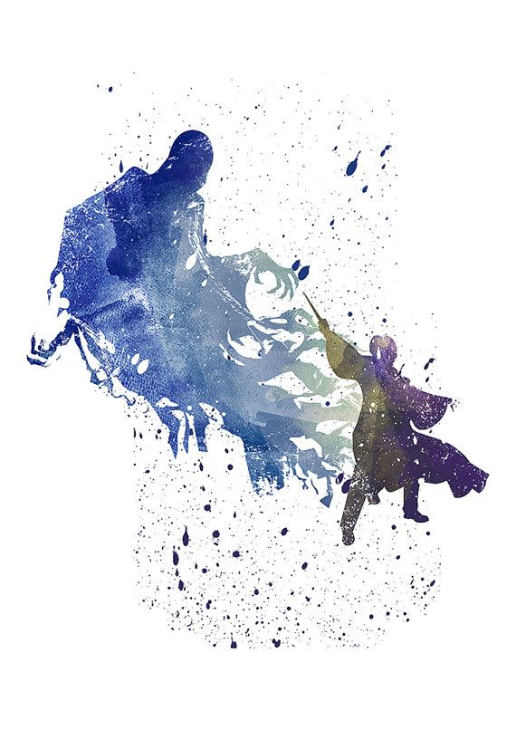 Harry Potter Drucken Dementor Harry Potter von WatercolorDsgn