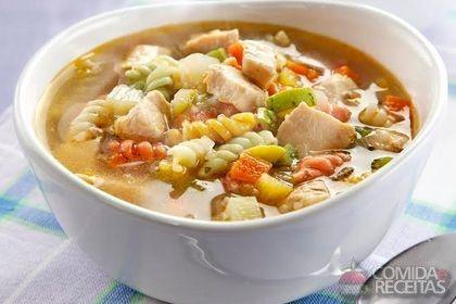 Receita de Sopa de legumes e frango em receitas de sopas e caldos, veja essa e outras receitas aqui!