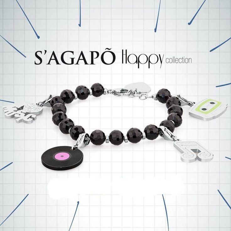 S Agapo Happy Bracciale con charms musica Sagapo GioielliVarlotta S Agapò