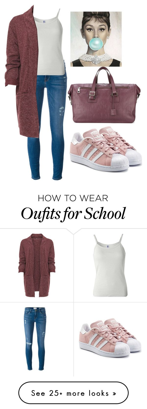 """school"" by anna-bigsis on Polyvore featuring adidas Originals, Frame, B. Ella, WearAll, Assouline Publishing and plus size clothing"