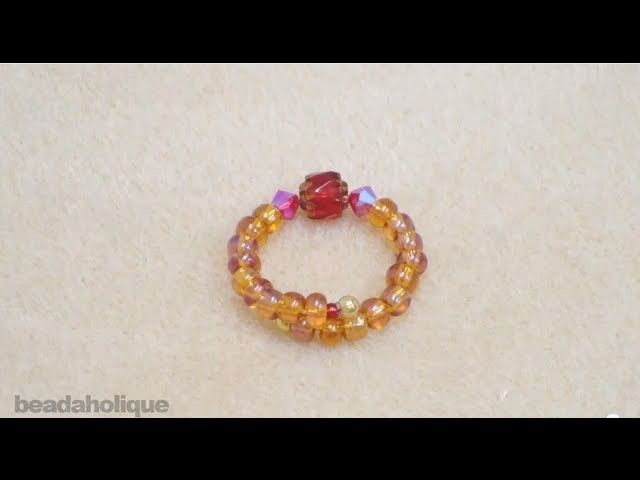 How to Make a Beaded Memory Wire Ring