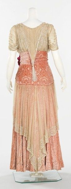 1912-1914 silk dress by Herbert Luey
