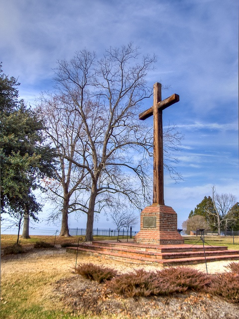 The Cross at Historic Jamestown, VA  I got to work on an archaeological dig here - we found some really cool stuff - Love what the park service has done to make this open to interpretation for visitors - great place - I love Virginia