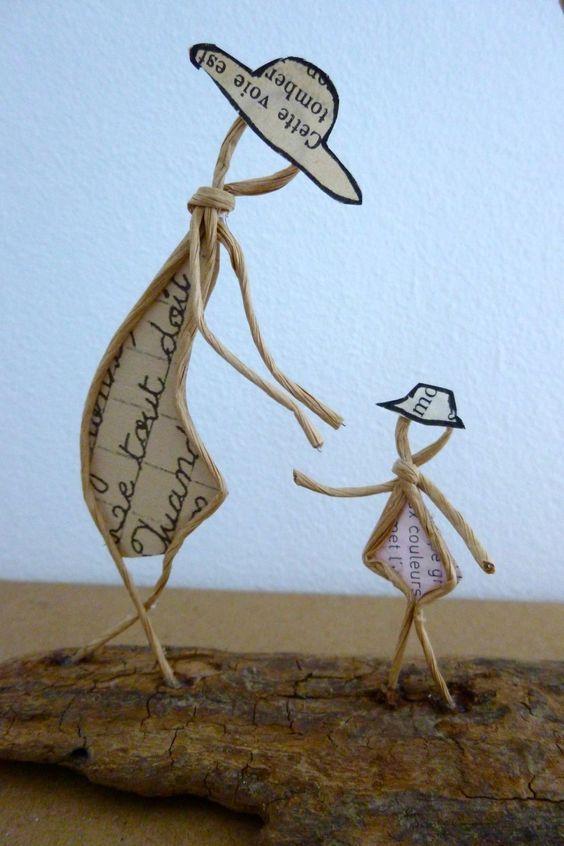 Les premiers pas - figurines en ficelle et papier : Accessoires de maison par ficelleetpapier: