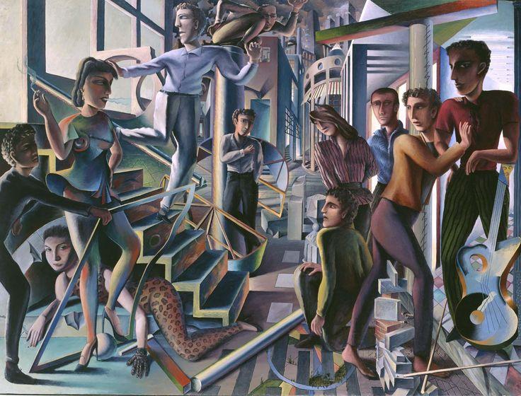 Salida de un concierto de Guillermo Perez Villalta. Me gusta la forma en la que están representadas las personas y los planos formando estructuras imposibles.