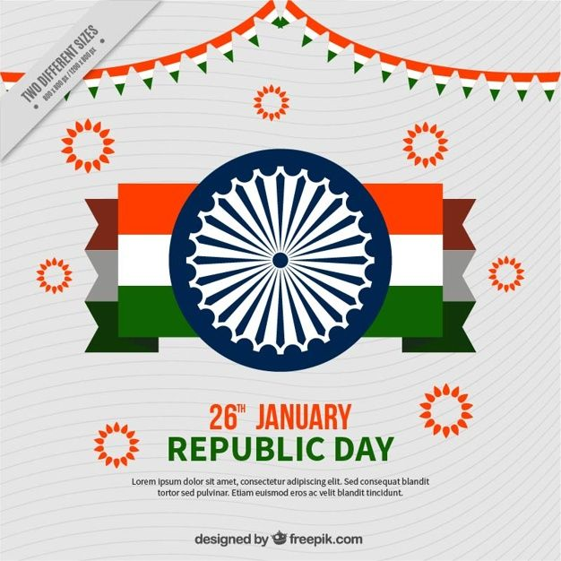 Indian republic day background with flag #Free #Vector  ments. #Background #Flag #Holiday #Festival #India #Indian #Peace #Freedom #Country #Indianflag #Day #Nationalflag #January #Patriotic #Independence #Chakra #Democracy #Nation #National #Constitution