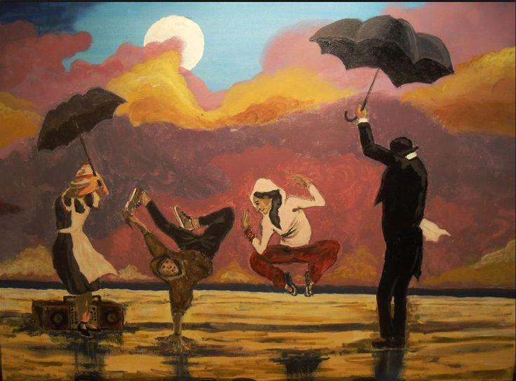Marko Sapiołko - Nowy Vettriano acrylic canvas 50x70