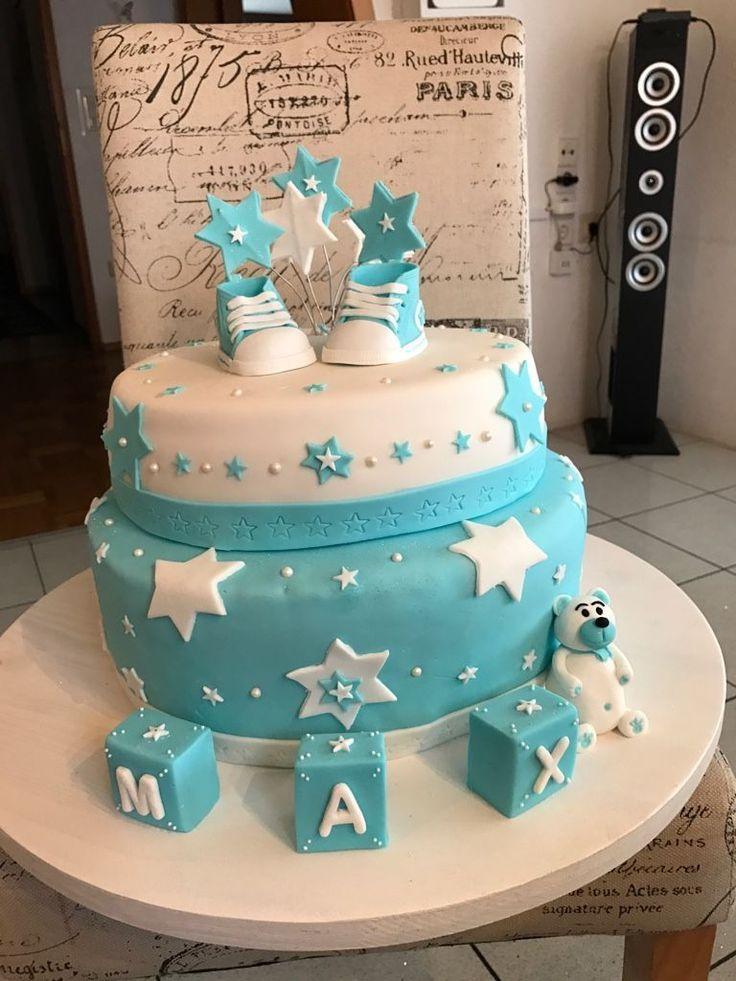 Fondant Kuchen Baby Boy www.birthday Kuchen   – Geburtstagstorte