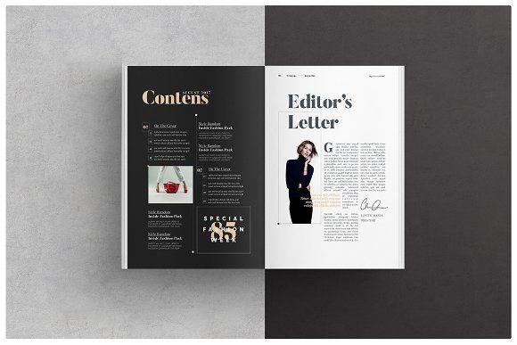 Simple Magazine Layout #minimal