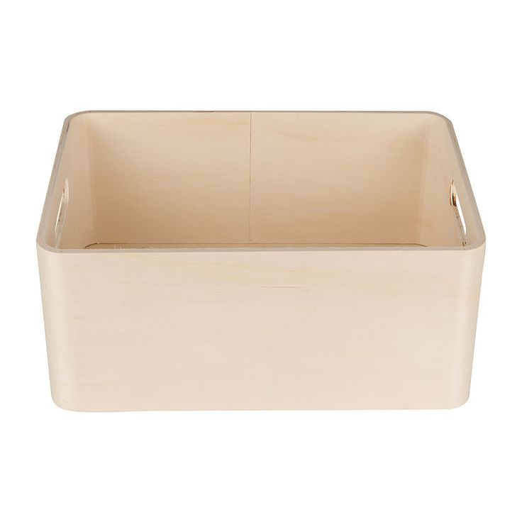 Kistje blank hout rechthoek groot | Xenos