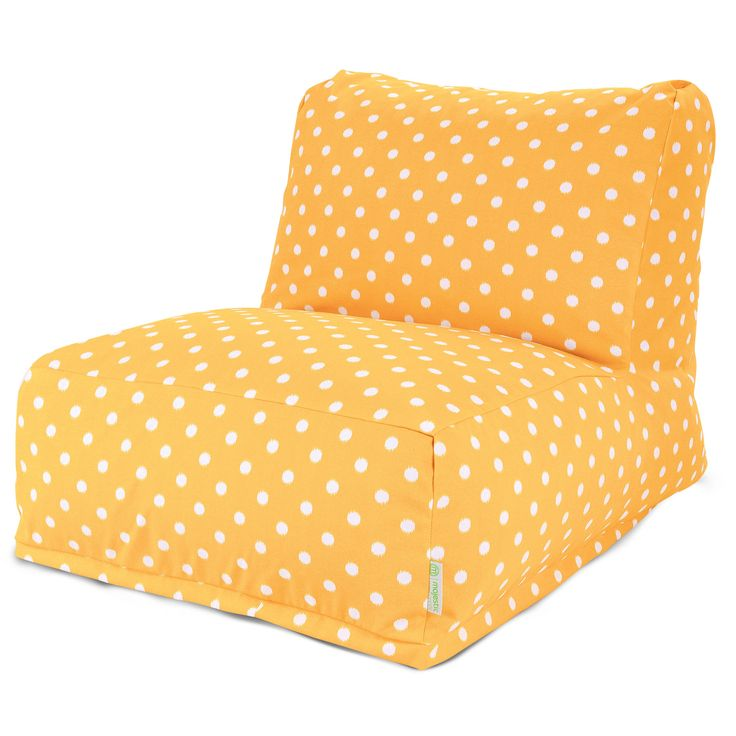 Majestic Home Goods 85907220370 Citrus Ikat Dot Bean Bag Chair Lounger