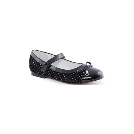 MURSU Туфли для девочки MURSU  — 1439р. ------------------------ Туфли для девочки от известного финского бренда MURSU - прекрасный вариант для юных модниц. Модель черного цвета в мелкий белый горох имеет лакированный нос, декорирована бантом с бусинами, застегивается на липучку. Туфли на небольшом каблуке прекрасно подойдут как для праздника, так и для повседневной носки.   Дополнительная информация:  - Цвет: чёрный, черный (лак). - Тип застежки: липучка. - Декоративные элементы: бант…