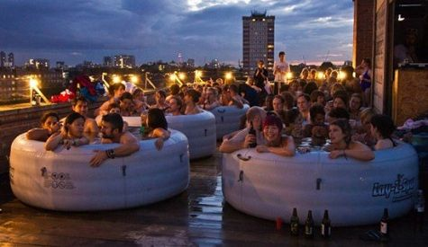 Drive-Ins May Be Nearly Extinct, But Now There's Hot Tub Cinema